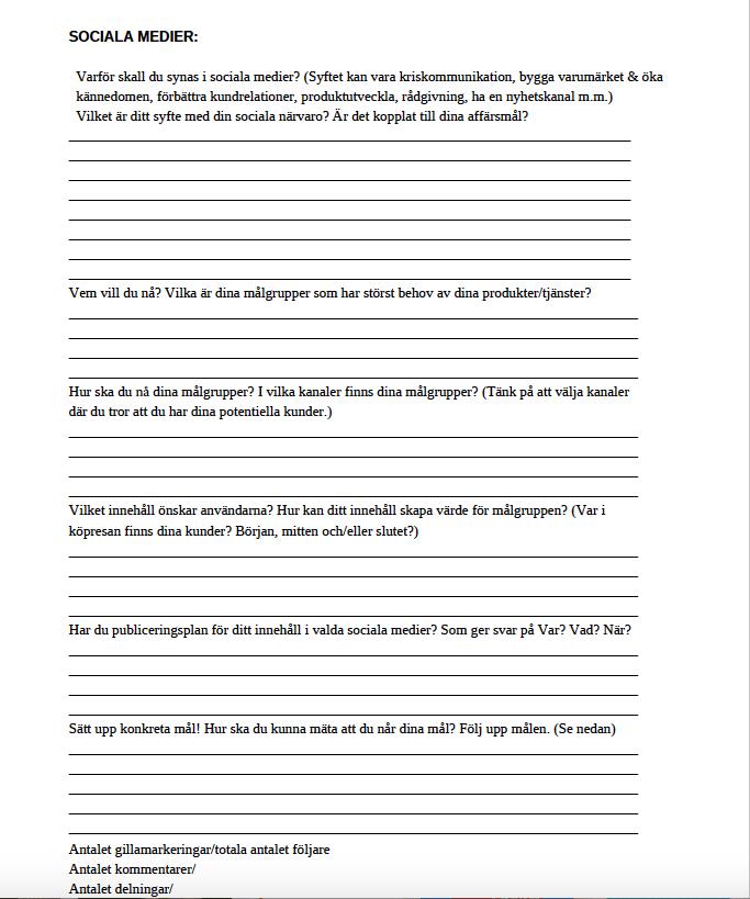 Handlingsplan sociala medier som pdf.
