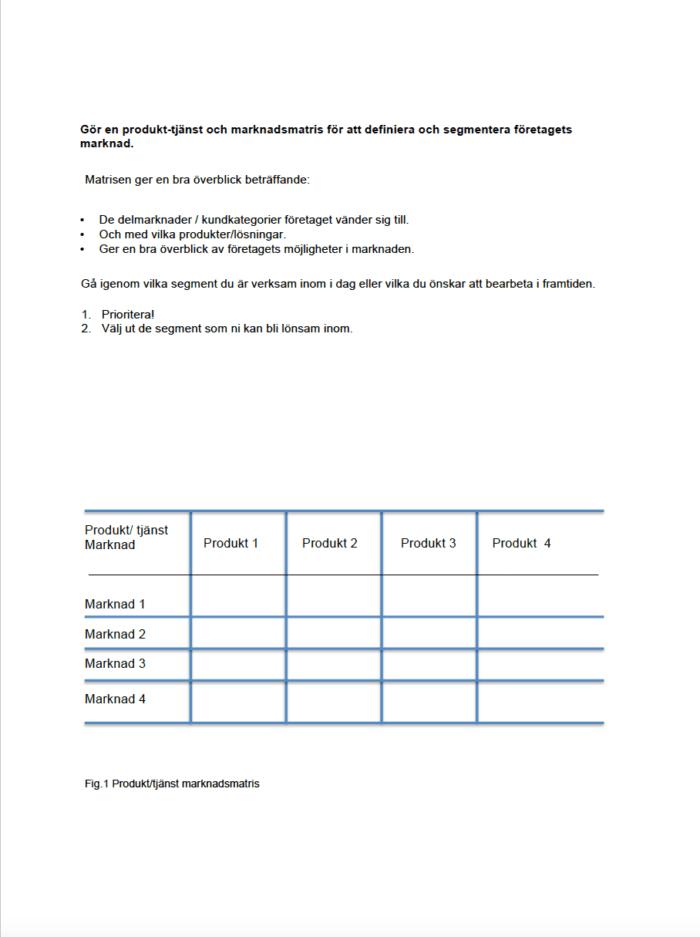 marknadsplan & kommunikationsplansmallar