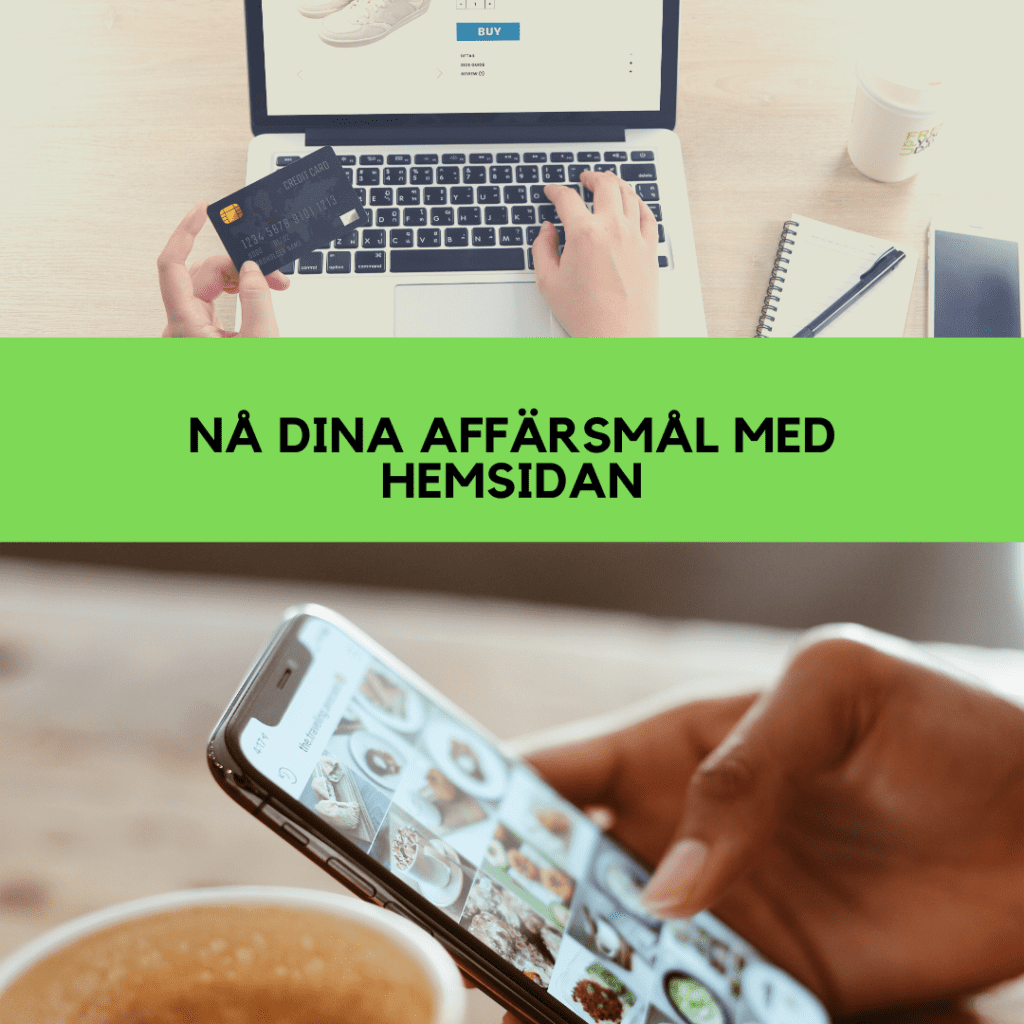 Hemsida medium med webshop
