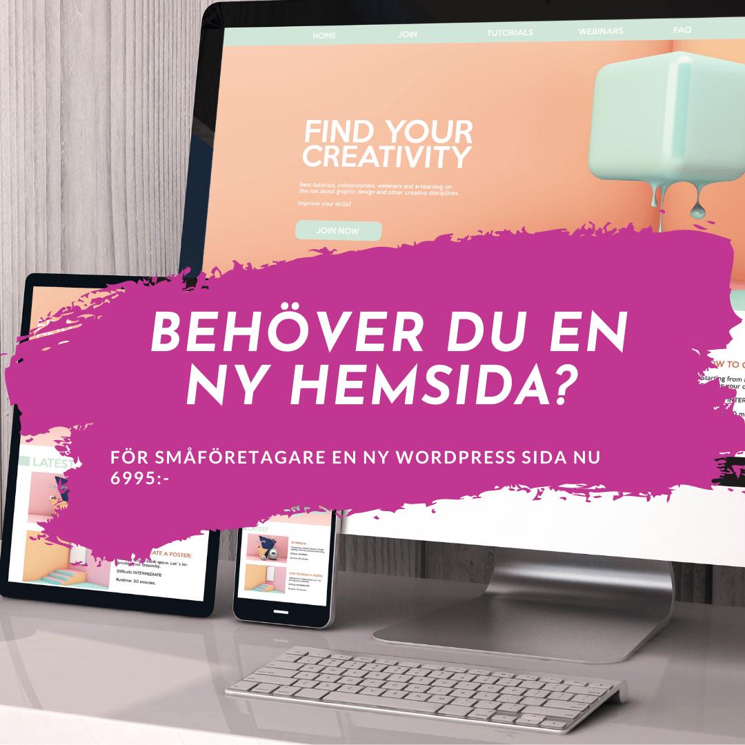 köpa en ny hemsida