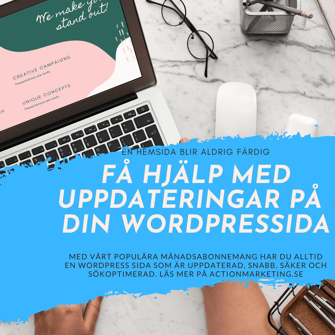 Support och uppdateringar WordPress